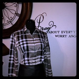 Burberry Charcoal Unisex Shirt
